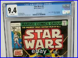Marvel Comics STAR WARS #1 CGC 9.4 WHITE PAGES NM 1977 1st Print