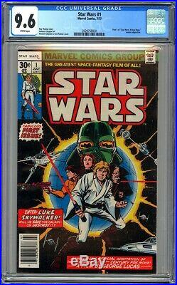Marvel Comics STAR WARS #1 CGC 9.6 WHITE PAGES NM+ 1977