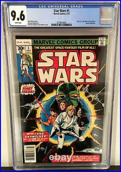Marvel Comics STAR WARS #1 CGC 9.6 WHITE PAGES NM+ 1977 1st Print