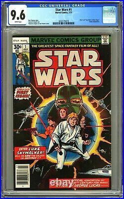 Marvel Comics STAR WARS #1 CGC 9.6 WP NM+ 1977 1st Print