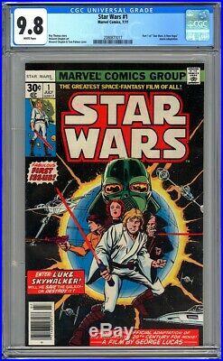Marvel Comics STAR WARS #1 CGC 9.8 WHITE PAGES NM/MT 1977 1st Print