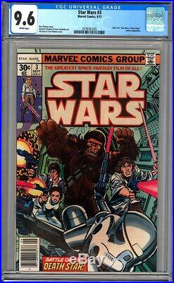Marvel Comics STAR WARS #3 CGC 9.6 WP NM+ 1ST PRINT 1977