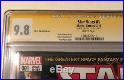 Marvel Star Wars #1 Alex Ross Variant Cover March 2015 Stan Lee Auto CGC 9.8