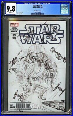 Marvel Star Wars #1 Cgc 9.8 Wp Nm/mt Alex Ross Sketch Variant 2015