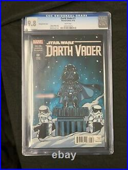 Marvel Star Wars 1 Skottie Young Cgc 9.8 Set Vader 1 Leia 1