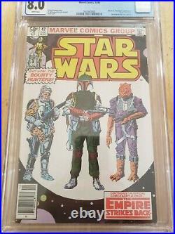 Marvel Star Wars 42 CGC 8.0 Boba Fett Empire Strikes Back