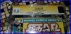 Marvel Star Wars 68 CGC 9.6 Signed Carrie Fisher and Jeremy Bulloch Boba Fett
