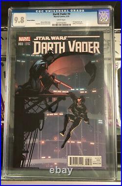 Marvel Star Wars Darth Vader #3 May 2015 CGC 9.8 Variant Edition 259182001 BB MO