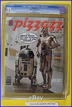 PIZZAZZ #1 Marvel Magazine 1977 STAR WARS Tarzan comics KISS RARE CGC NM+ 9.6