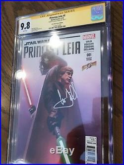 Princess Leia #1 Alex Ross variant CGC 9.8 SS Mark Hamill Signed