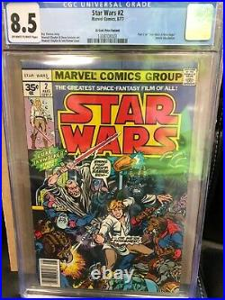 Rare Star Wars #2. 35 Cent Variant CGC 8.5 (Aug 1977, Marvel)