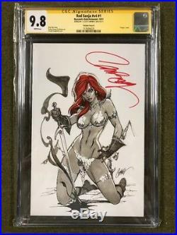 Red Sonja #V4 #1 CGC 9.8 SS NM/MT J. Scott Campbell K variant Signed Brand New