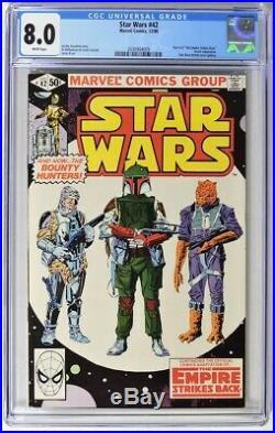 S00406. STAR WARS #42 by Marvel CGC 8.0 VF (1980) 1st App. Of BOBA FETT & YODA