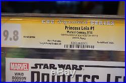 SS CGC 9.8 Princess Leia #1 Original Art Sketch Cover Star Wars Ewok