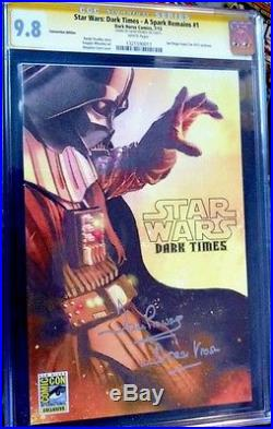 STAR WARSDARK TIMES A Spark Remains #1 CGC SS 9.8 signed by DAVID PROWSE