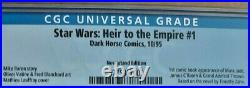 STAR WARSHEIR TO THE EMPIRE #1 Newsstand CGC9.6 1st App Grand Admiral Thrawn WP