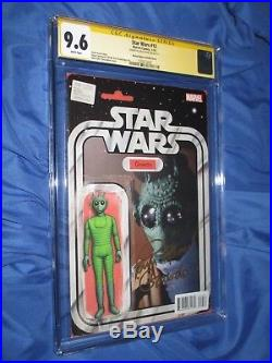 STAR WARS #12 CGC 9.6 SS Signed by Paul Blake GREEDO Action Figure Variant