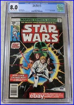 STAR WARS (1977) #1 CGC 8.0 1st Star Wars Comic
