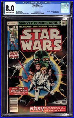 STAR WARS #1 (1977 Marvel) CGC 8.0 VF A New Hope Part One first print