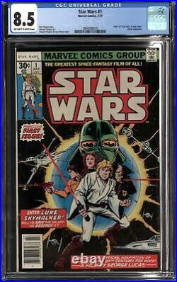 STAR WARS #1 (1977 Marvel) CGC 8.5 VF+ A New Hope Part One FIRST PRINT