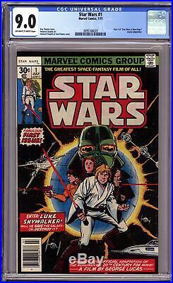 STAR WARS #1 (1977 Marvel) CGC 9.0 VF/NM A New Hope Part One first print