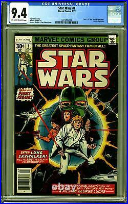 STAR WARS #1 (1977 Marvel) CGC 9.4 NM A New Hope Part One first print