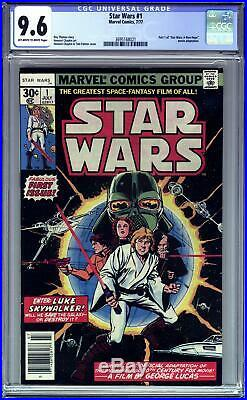 STAR WARS #1 (1977 Marvel) CGC 9.6 NM+ A New Hope Part One first print