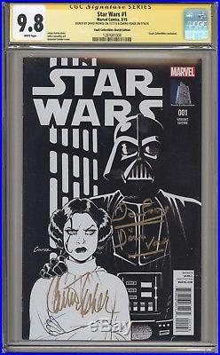 STAR WARS 1 (2015) CGC 9.8 Signature Series Carrie Fisher Marvel
