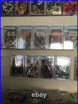 STAR WARS #1,2,3,4,5,6,42,81,103 A NEW HOPE Marvel 1977 Movie Adapt. Lot Of 9