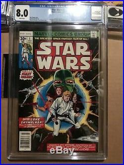 STAR WARS #1 68 107 CGC 8.0 9.4 9.6 Set 1977 Marvel Darth Vader Boba Fett VF/NM