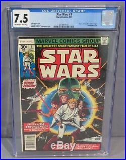 STAR WARS #1 (A New Hope movie adaptation) CGC 7.5 VF- Marvel Comics 1977 cbcs