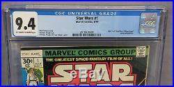 STAR WARS #1 (A New Hope movie adaptation) CGC 9.4 NM Marvel Comics 1977 cbcs