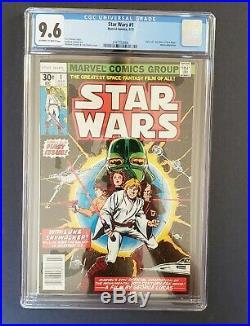 STAR WARS #1 (A New Hope movie adaptation) CGC 9.6 NM+ Marvel Comics 1977 CGC