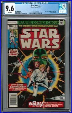 STAR WARS #1 CGC 9.6 1st PREMIERE ISSUE 1977 1st app Skywalker, Vader, Han Solo