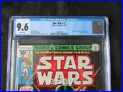 STAR WARS #1 CGC 9.6 NM+ Near Mint Vintage Marvel July 1977 Comic WHITE PAGES
