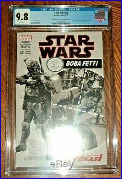 STAR WARS #1 CGC 9.8 Heroes Fantasies Amazing Spiderman #129 Boba Fett Solo 2015
