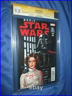 STAR WARS 1 CGC 9.8 SS Signed Amanda Conner VAULT Exclusive MARVEL Variant Color