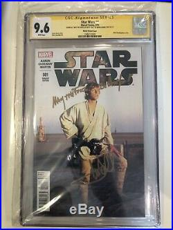 STAR WARS 1 CGC SS 9.6 SIGNED MARK HAMILL ACTOR FOTO 2015 Inscribed See Comments