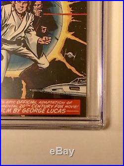 STAR WARS #1 Comic Book 1977- First Print WHITE PAGES 9.0 Just received from CGC