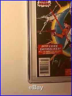 STAR WARS #1 Comic Book 1977- First Print WHITE PAGES 9.4 Just received from CGC