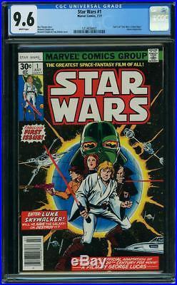 STAR WARS #1 First Print CGC 9.6 n Mint + July 1977 Marvel Comics NM+ 1st