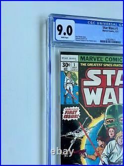 STAR WARS #1 MARVEL COMICS 1977 Original 1st Print CGC GRADED 9.0 MINT