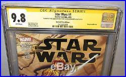 STAR WARS #1 (Quesada Variant signed by him & Jason Aaron) CGC 9.8 Marvel 2015