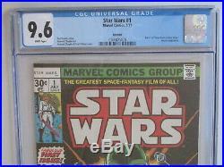 STAR WARS # 1 US MARVEL 1977 1st STAR WARS COMIC Chaykin art CGC 9.6 NM+ r