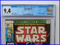 STAR WARS # 1 US MARVEL 1977 1st STAR WARS Howard Chaykin NM + 9.4 CGC 4006