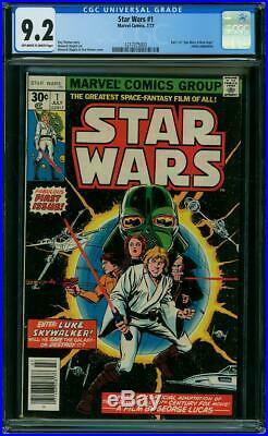 STAR WARS # 1 US MARVEL 1977 1st Star Wars Comic Howard Chaykin NM 9.2 CGC