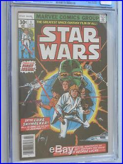 STAR WARS # 1 US MARVEL 1977 Howard Chaykin NM+ 9.4 CGC reprint