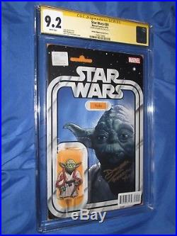 STAR WARS #20 CGC 9.2 SS Signed by YODA Actor, Deep Roy Action Figure Variant