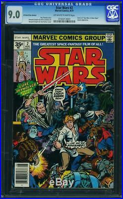 STAR WARS #2 CGC 9.0 35 Cent Price Variant! Part 2 of A New Hope
