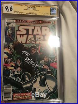 STAR WARS #3 CGC 9.6 SS Signed 2x Roy Thomas + Tom Palmer (1977 Marvel Comics)